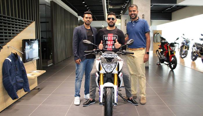 Yuvraj singh buys BMWG310R 2