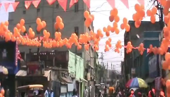 ড্রোন-সিসি ক্যামেরার নজরদারিতে রানিগঞ্জে রামনবমী