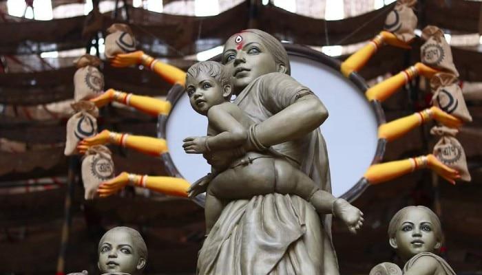 কাজ নেই, পেটে খিদে! তিন সন্তানকে নিয়ে লড়াকু শ্রমিক মা-ই এবার দেবী দুর্গা