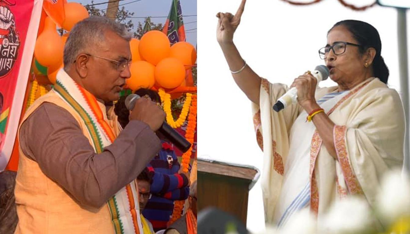 BJP মাওবাদীদের থেকেও ভয়ঙ্কর: Mamata; মাওবাদী এনে ক্ষমতায় এসেছিল, বিসর্জন হবে: Dilip