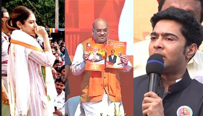 Bengal election 2021: 'গুজরাটি ইশতাহারকে প্রত্যাখান বাংলার', তোপ Abhishek থেকে Nusrat-র