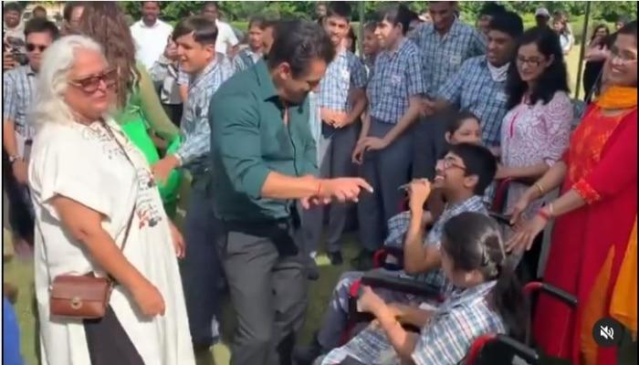 Viral Video: বিশেষভাবে সক্ষম ক্ষুদেদের হাত ধরে নাচ Salman-র