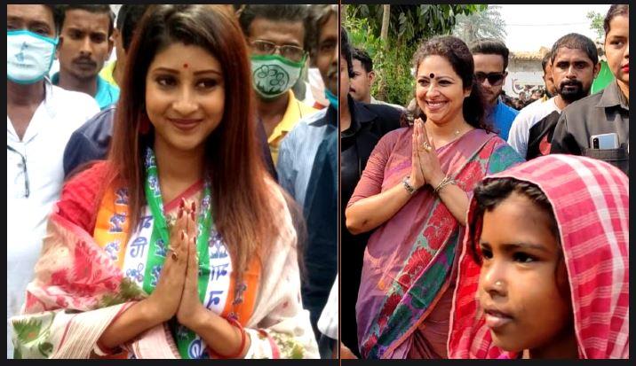 সোনারপুর দক্ষিণে ভোট প্রচারে BJP-র Anjana Basu, উত্তরে TMC-র Lovely Maitra