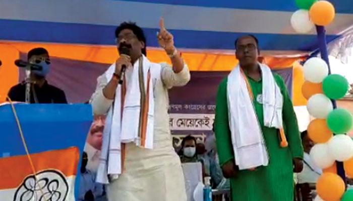 WB Assembly Election 2021: আদিবাসী একতা ভাঙতে চাইছে BJP, ওদের হাত থেকে বাংলাকে বাঁচান: Hemant Soren