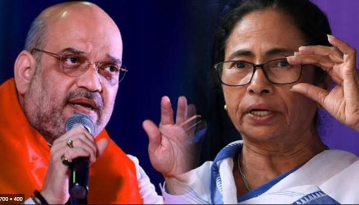 WB assembly election 2021: 'কমিশনকে দিয়ে অফিসারদের বদলি করাচ্ছেন', ফের Shah-কে নিশানা Mamata-র