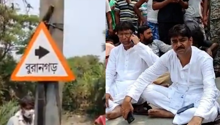 West Bengal 3rd Phase Election 2021: অবাধ ভোটের দাবিতে ধরনায় দোর্দণ্ডপ্রতাপ বিদায়ী TMC বিধায়ক শওকত মোল্লা
