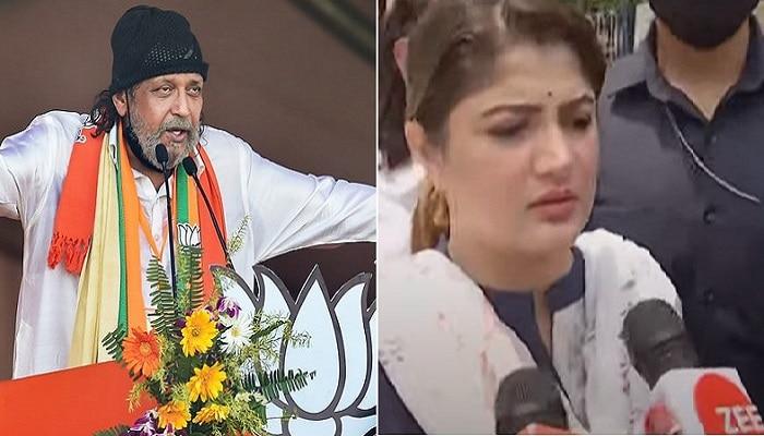 WB assembly election 2021 : মিলল না অনুমতি, বেহালায় বাতিল মিঠুনের রোড শো, শ্রাবন্তীর নেতৃত্বে থানায় BJP-র বিক্ষোভ