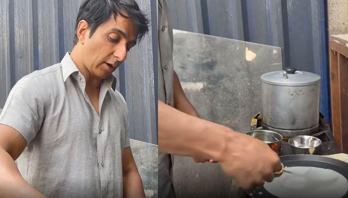 শ্যুটিংয়ে গিয়ে নিজের হাতে সকলের জন্য ধোসা বানালেন Sonu Sood
