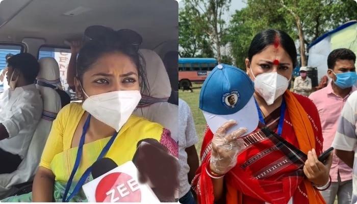 West Bengal election vote 7th phase 2021: তৃণমূল এজেন্টের টুপি খুললেন Agnimitra, পাল্টা প্রতিক্রিয়া Saayoni-র