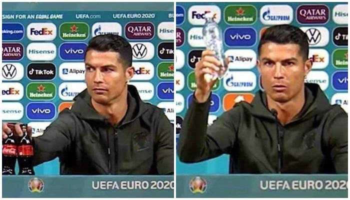 UEFA Euro 2020: সাংবাদিক বৈঠকে কোলার বোতল সরিয়ে বড় বার্তা দিলেন Cristiano Ronaldo