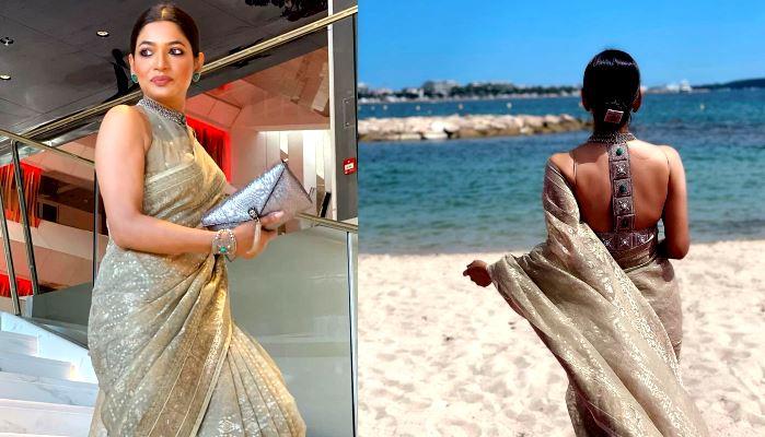 Cannes-র রেড কার্পেটে Bangladesh-র ঢাকাই জামদানি লুকে মুগ্ধ করলেন বাঁধন