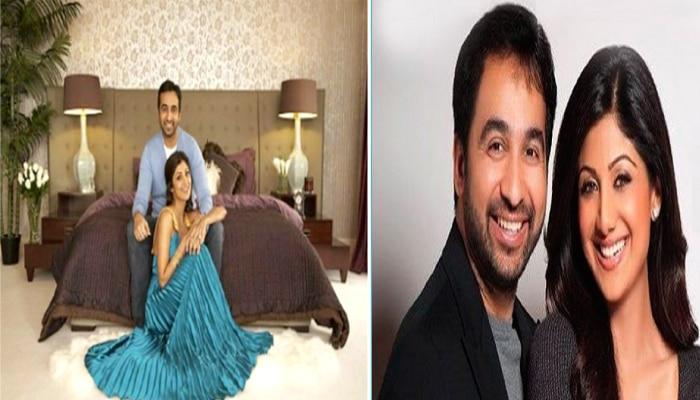 Raj Kundra & Shilpa Shetty: Bed room