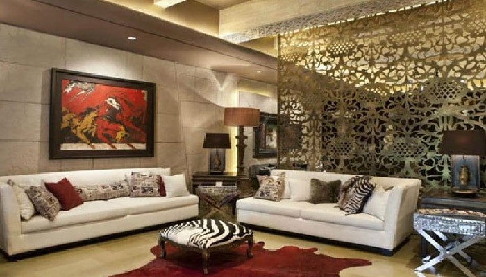 Shilpa Shetty. Raj Kundra: Drawing room