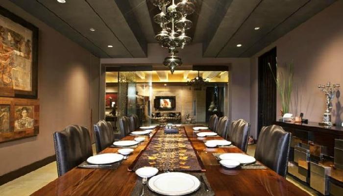 Shilpa Shetty. Raj Kundra: Dinning room