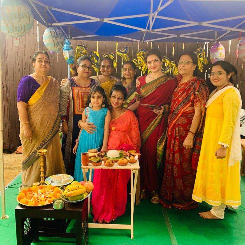 Tanusree Chakraborty post Baby Shower Ceremony pic