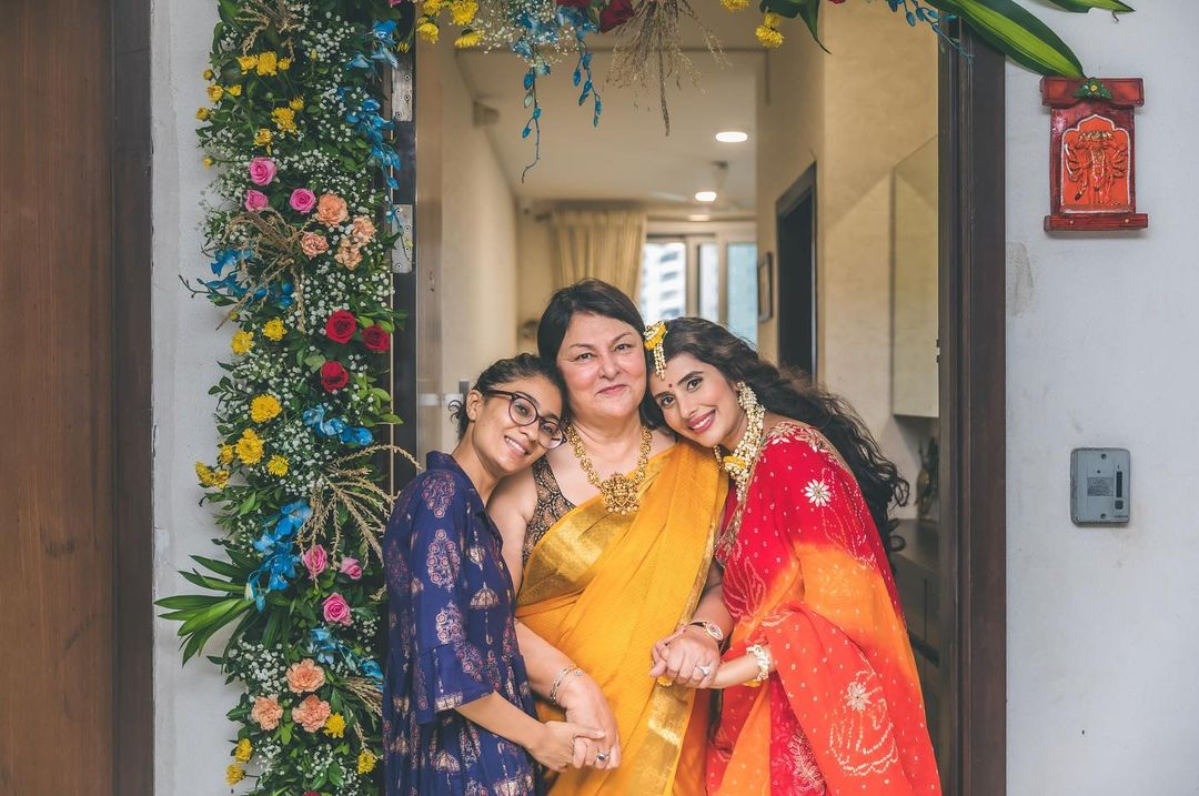 Charu Asopa with her mother-in-law