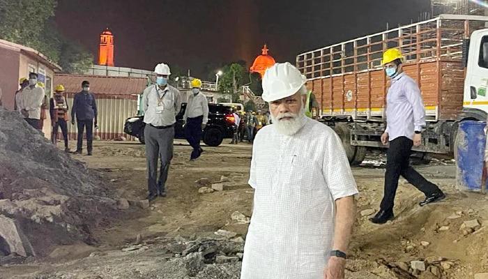 Modi visits site