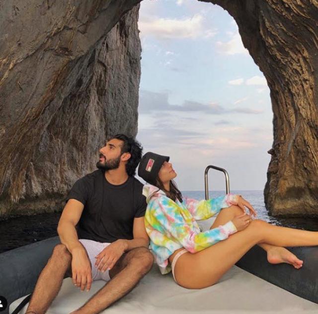 Ahan Shetty & Tania Shroff in Greece