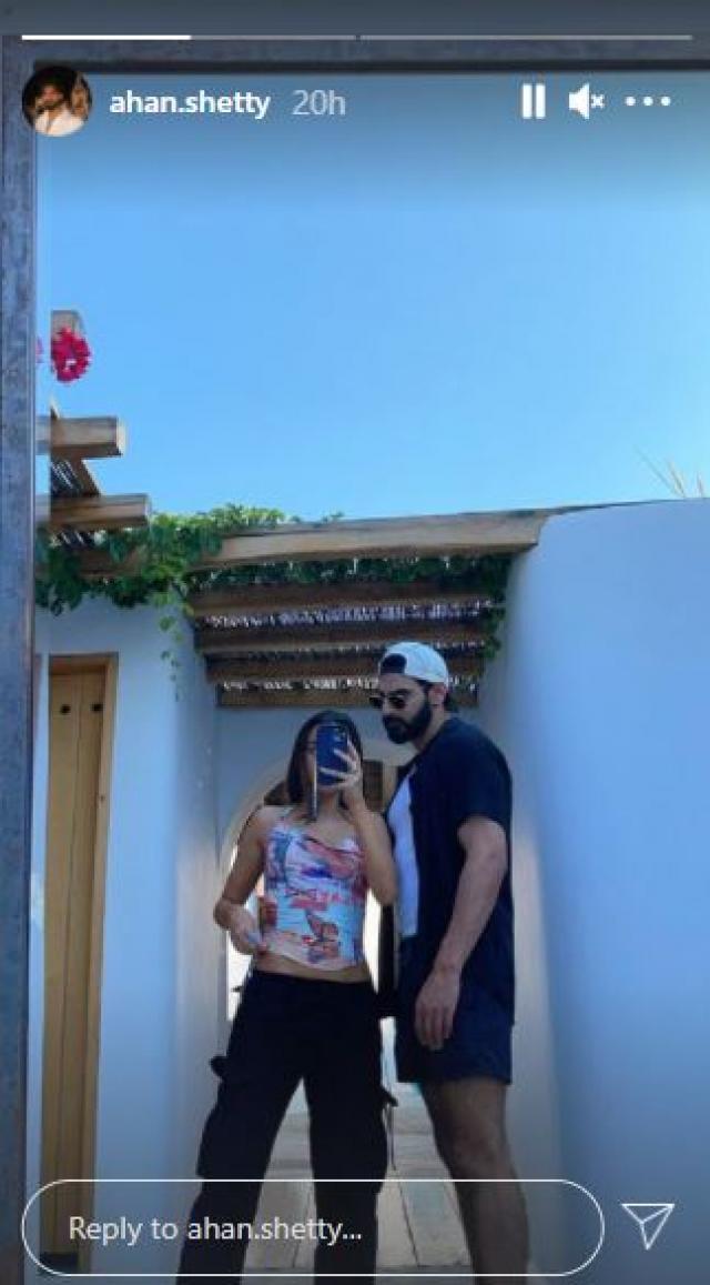 Ahan Shetty & Tania Shroff at a hotel in Greece
