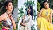 Pujor Fashion: সপ্তমীতে ইন্দো-ওয়েস্টার্ন, অষ্টমীতে শাড়ি, নবমীতে লেহেঙ্গা, জি ২৪ ঘন্টার ফটোশ্যুটে ভিন্ন লুকে Ditipriya Roy
