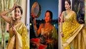 Monalisa: করবা চৌথে দেশি লুকে নজর কাড়ছেন 'দুপুর ঠাকুরপো'দের প্রিয় 'ঝুমা বৌদি'