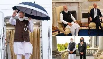 Modi In US: Joe Biden-এর পরিজনদের খোঁজ দিলেন মোদী! Kamala Harris-কে দাদুর স্মৃতি উপহার