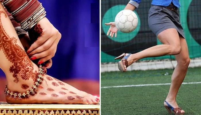 পায়ে যখন ফুটবল, তখন 'নূপুরের থেকেও বেশি দোলে'