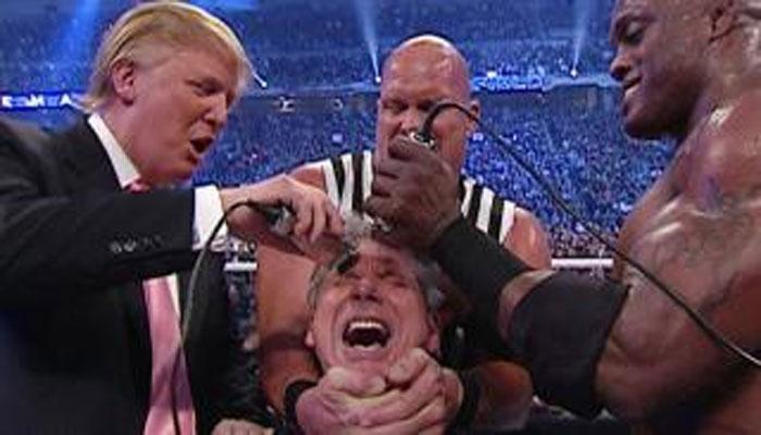 আমেরিকান প্রেসিডেন্টের WWE-এর মঞ্চে কুস্তিটা দেখেছেন?