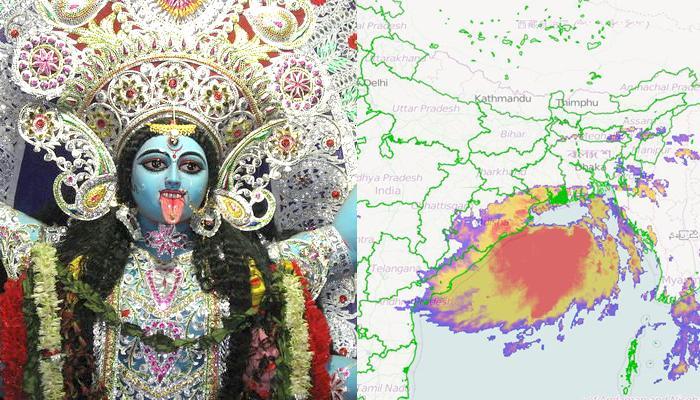 কালীপুজোয় আরও বৃষ্টি, চোখ রাঙাচ্ছে নিম্নচাপ