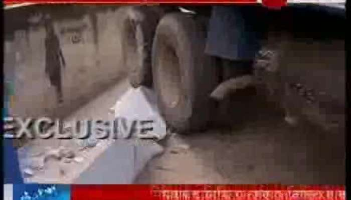Truck narrowly averted deadly accident in New Alipore