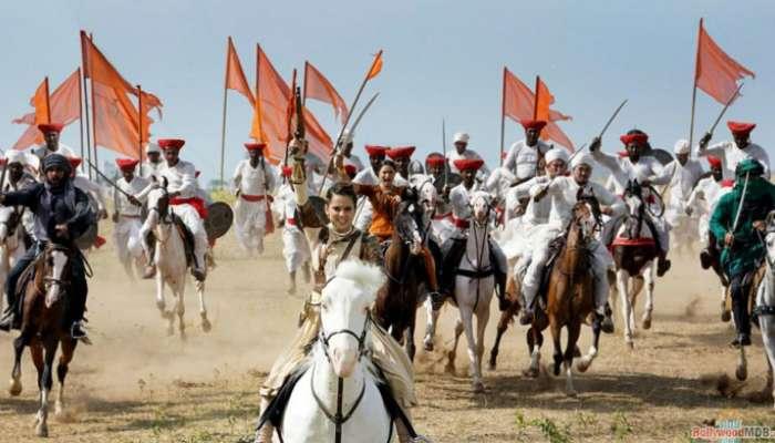 ঘোড়ায় চড়ে কীভাবে যুদ্ধ করেছিলেন 'লক্ষ্মীবাই' কঙ্গনা, দেখুন...