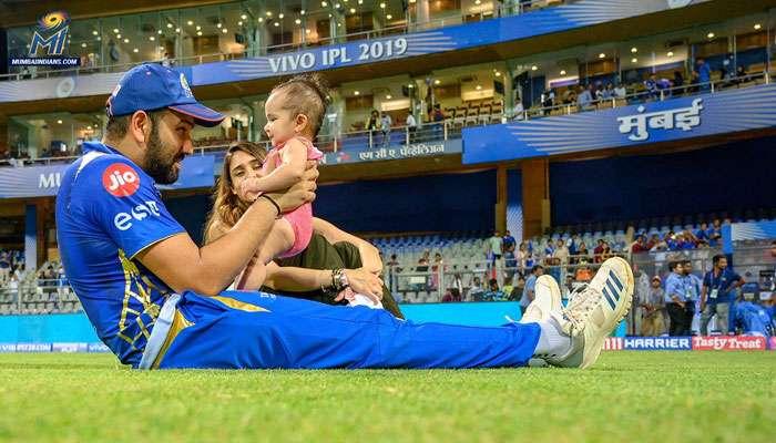 IPL 2019: নাইটদের হারিয়ে মেয়ের সঙ্গে হাফ-সেঞ্চুরি সেলিব্রেশন রোহিতের, দেখুন ভিডিয়ো