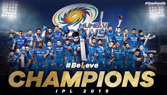 IPL2019, FINAL, MIvCSK: রুদ্ধশ্বাস ফাইনাল! ১ রানে চেন্নাইকে হারিয়ে চ্যাম্পিয়ন মুম্বই