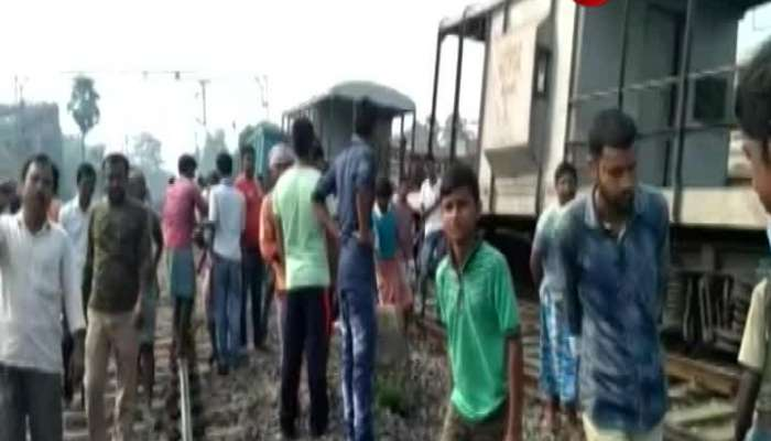 Goods train runs without engine at Rajgram in Birbhum