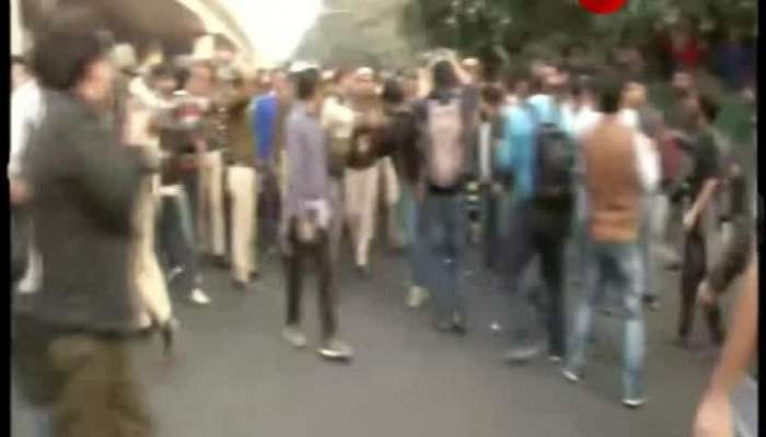 Students protest again against fee increase at JNU