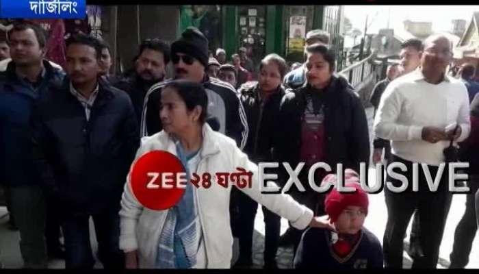 CM Mamata Banerjee at Darjeelings Chakbazar