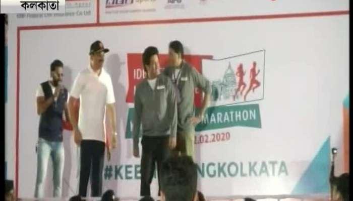Sachin Tendulkar flags off marathon in the city