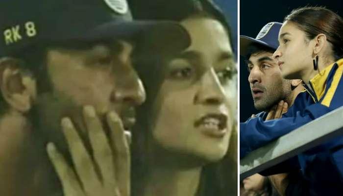 ISL ২০১৯-২০ : আলিয়াকে সঙ্গে নিয়েই ফুটবল ম্যাচ দেখলেন রণবীর