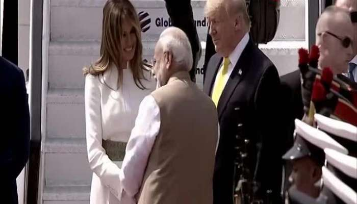 PM Modi welcomes Donald Trump at airport