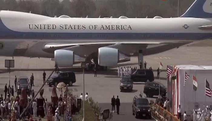 Donald Trump heads to Sabarmati Ashram in huge convoy