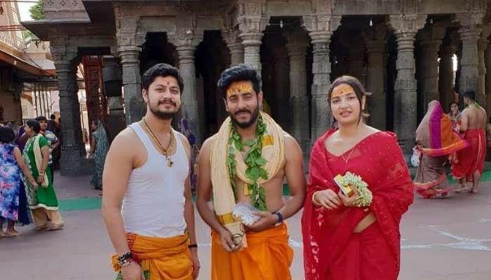 'ধর্মযুদ্ধ' মুক্তির আগে পুজো দিতে মহাকাল মন্দিরে রাজ-শুভশ্রী