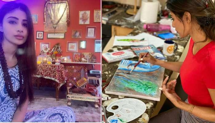 পূজাপাঠ, রান্নাবান্না থেকে ছবি আঁকা, গৃহবন্দি জীবনে সবই করছেন অভিনেত্রী মৌনি রায়