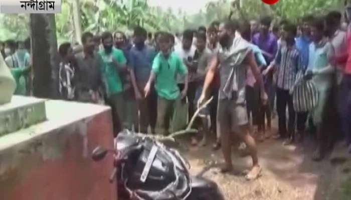 Ration theft in the name of the died people, clash in Nandigram too