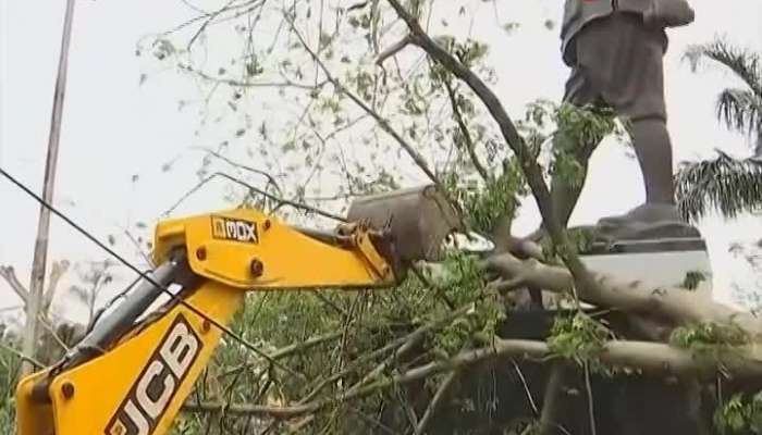 Sujit bose brings machinery- works to clear up the amphan devastation
