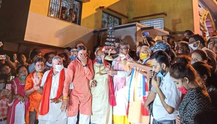 কোভিড সারার পর মেলা লোক নিয়ে গঙ্গারতি দিলীপের; সাফাই,'জনজাগরণ'