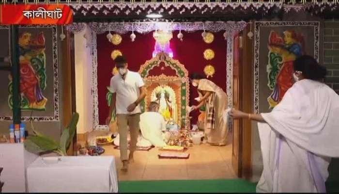 CM Mamata Banerjee worship kali, exclusive video on Zee 24 Ghanta