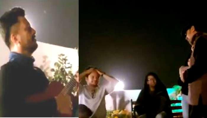 সৃজিত-মিথিলার বাড়ির 'রুফ টপ গার্ডেন'এ গায়কের ভূমিকায় শ্রীজাত, শ্রোতা যীশু, অনির্বাণরা