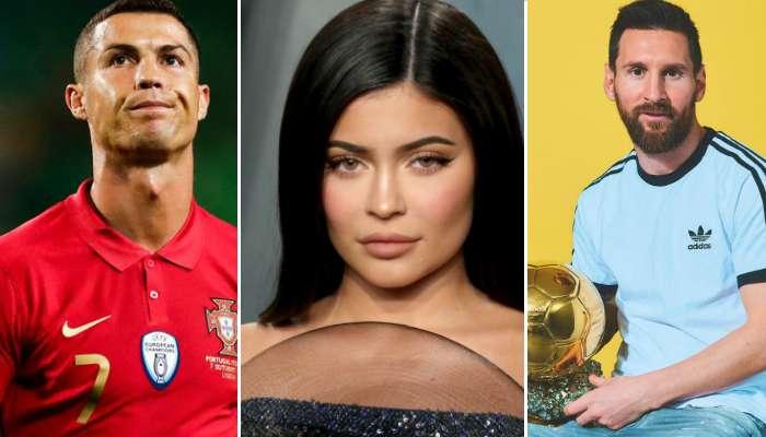 ফোর্বসের সর্বাধিক রোজগেরে সেলেবের তালিকায় ১ নম্বরে Kylie Jenner, রয়েছেন Messi, Ronaldo