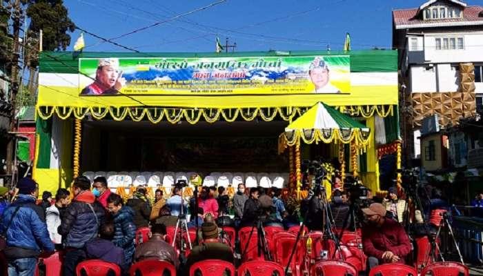 সাড়ে ৩ বছর পর পাহাড়ে আজ Bimal Gurung, Darjeeling এ সভা ঘিরে তুঙ্গে উদ্দীপনা