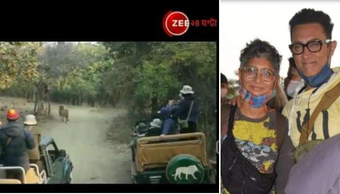 Gujarat-এর গির অরণ্যে Aamir Khan-এর গোটা পরিবার, দেখা পেলেন বিরল সিংহের